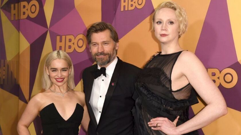 Emilia Clarke, Nikolaj Coster-Waldau, Gwendoline Christie