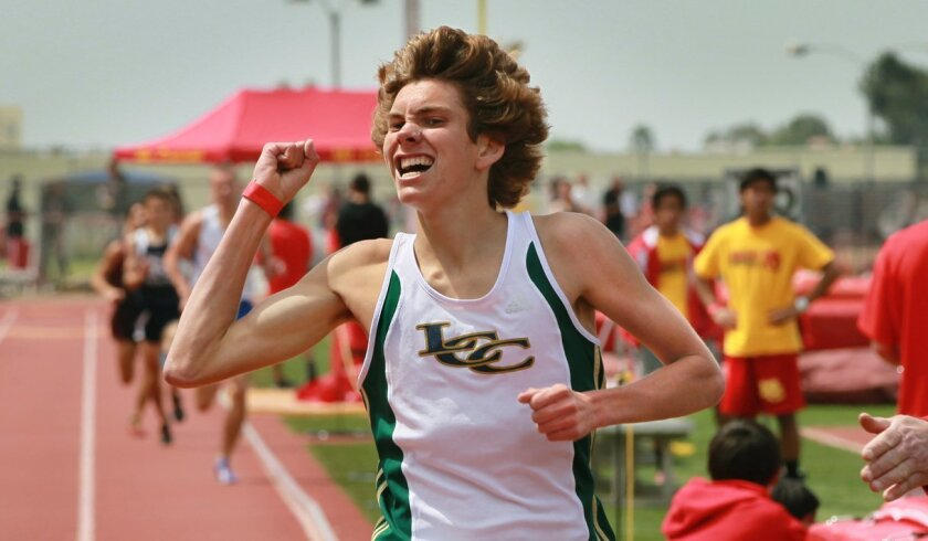 In addition to leading the San Diego Section in the 1,600 and 3,200 meters, La Costa Canyon senior Darren Fahy recorded the fastest 3,000-meter steeplechase ever by a California high school runner when he clocked a 9:03.15 at the Triton Invitational.