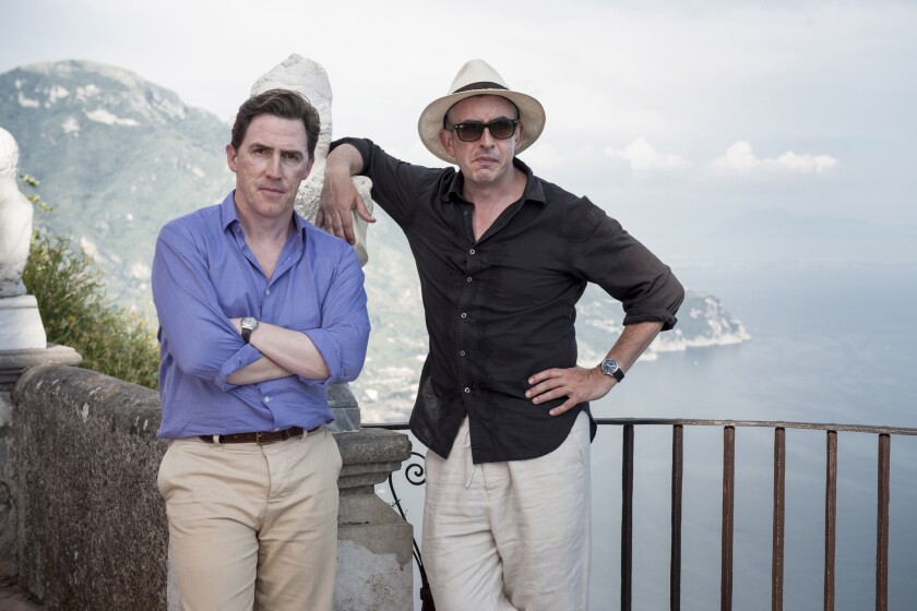 """Rob Brydon, left, and Steve Coogan star in """"The Trip to Italy,"""" directed by Michael Winterbottom."""