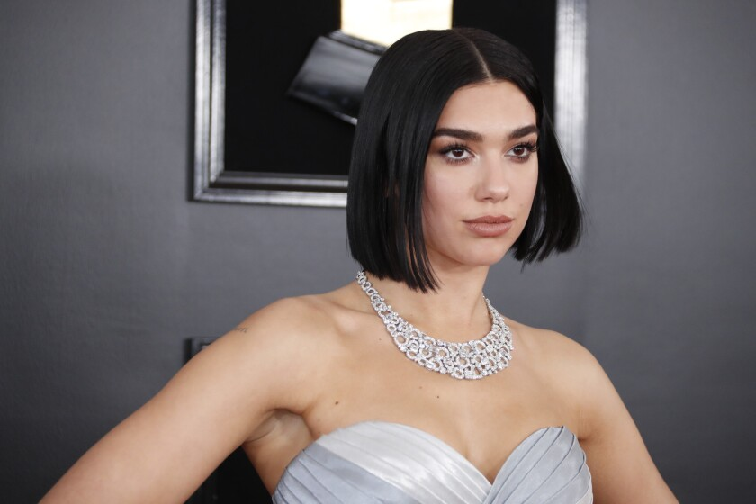 LOS ANGELES, CA - February 10, 2019 Dua Lipa during the arrivals at the 61st GRAMMY Awards at STAPLE