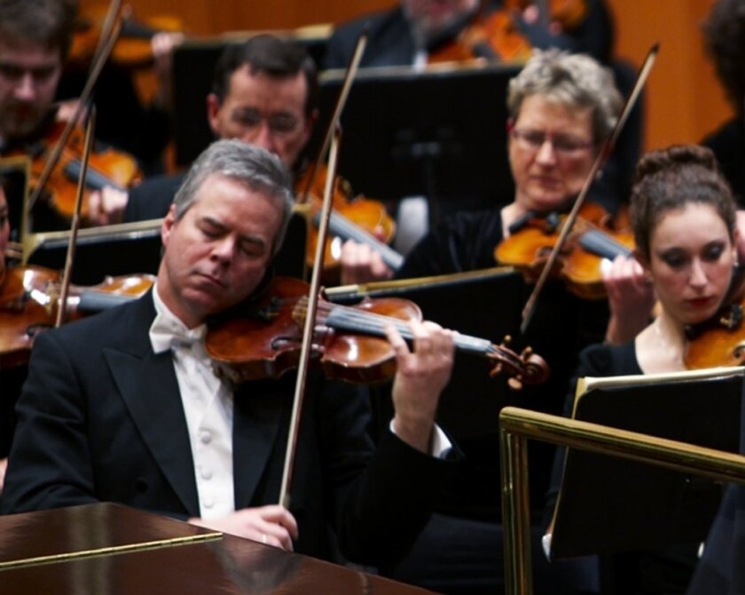 Milwaukee Symphony Orchestra concertmaster Frank Almond plays a 300-year-old Stradivarius violin, which was later stolen in January. Authorities have recovered the instrument, valued at $5 million, according to reports.