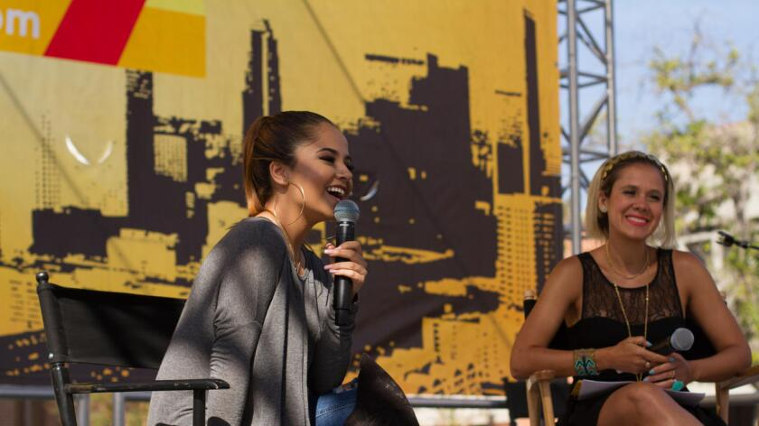 Becky G at the Los Angeles Times Book Festival/Hoy Stage