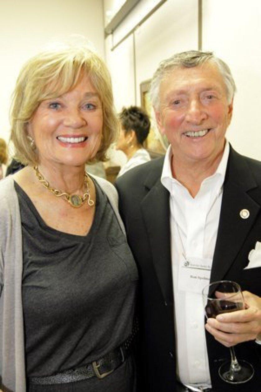 Marcia Schuster with artist Ron Spelman. Photos/Jon Clark