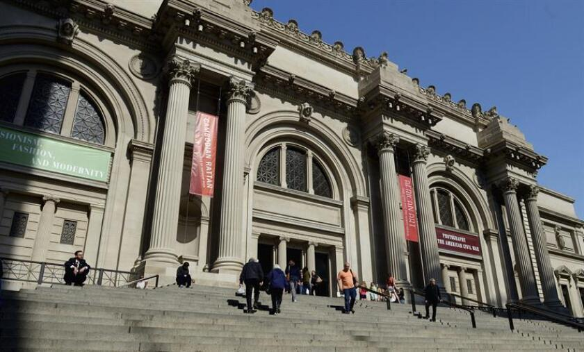 Vista de la entrada del Museo Metropolitano de Arte (MET) de Nueva York, EEUU. EFE/Archivo