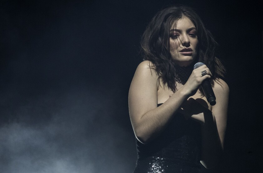 Lorde performs at Coachella during the second weekend.