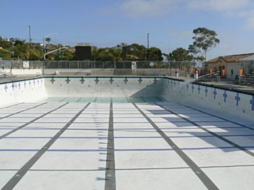 The drained pool at Coggan Family Aquatic Center. Photo: Courtesy