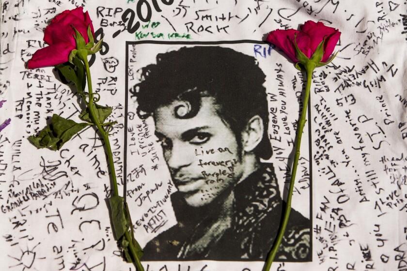 Prince makeshift memorial