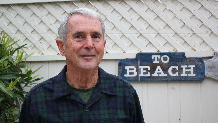 Retired Navy Lt. Commander Richard Smith in his home on Camino de la Costa