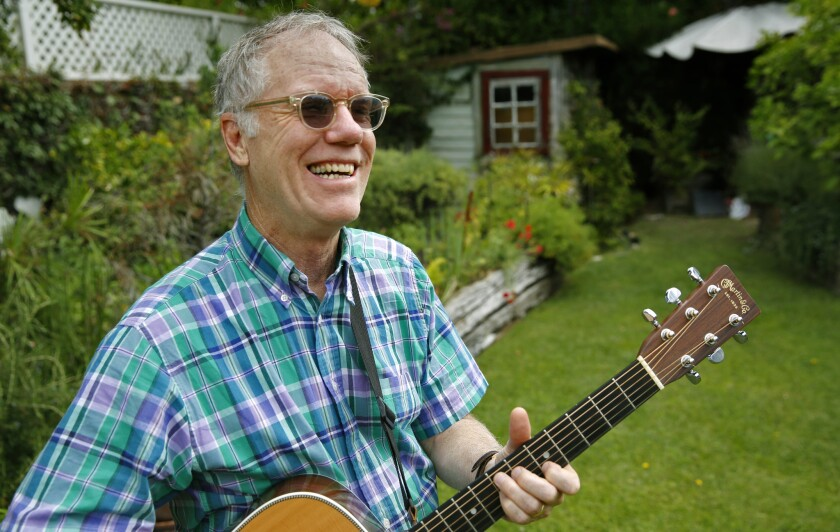 """Loudon Wainwright III's latest album, """"I Ain't Got the Blues (Yet),"""" was released Tuesday. Above, the singer-songwriter in July at the West Hollywood home of a friend."""