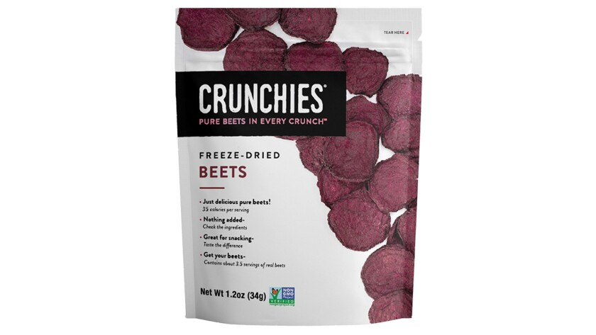 Freeze-drying retains beets' high nutritional content.