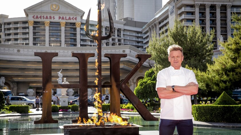 Hell S Kitchen Restaurant To Open In Vegas Complete With Red And Blue Teams Cooking While You Watch Los Angeles Times