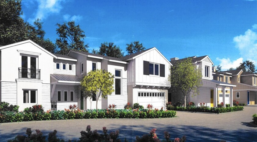 A rendering of a recently built housing development in Costa Mesa.