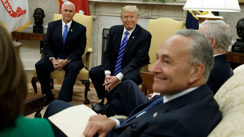 Donald Trump, Mike Pence, Chuck Schumer
