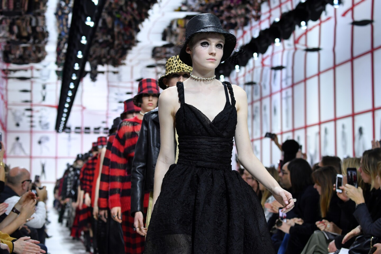 Models walk the runway during the Christian Dior womenswear fall/winter 2019/2020 show as part of Paris Fashion Week on Feb. 26, 2019.