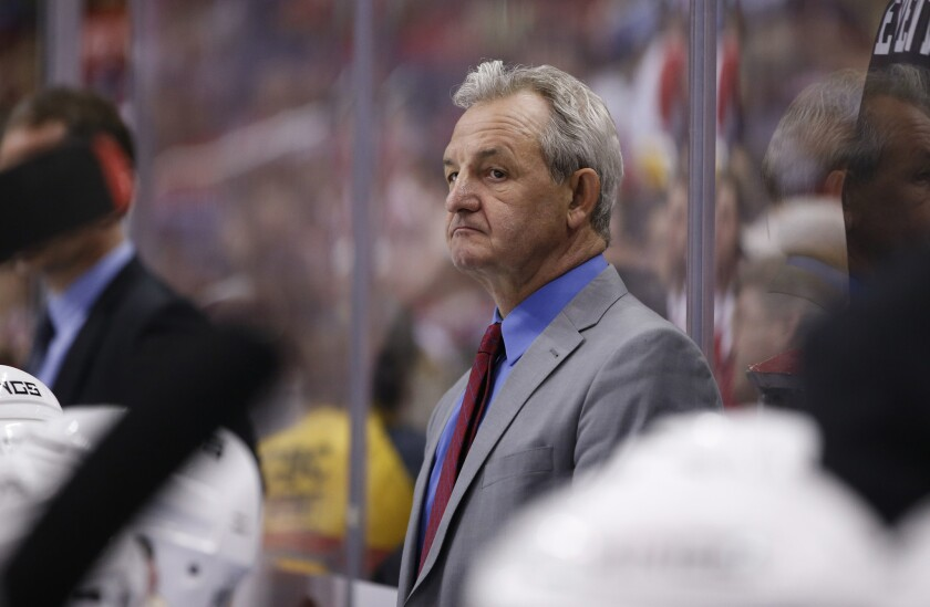 Darryl Sutter, shown during his coaching days with the Kings, is a coaching consultant with the Ducks.