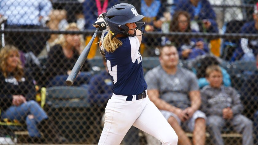 San Marcos pitcher Payton Tidd, also an outstanding hitter, was chosen the San Diego Section Player of the Year.