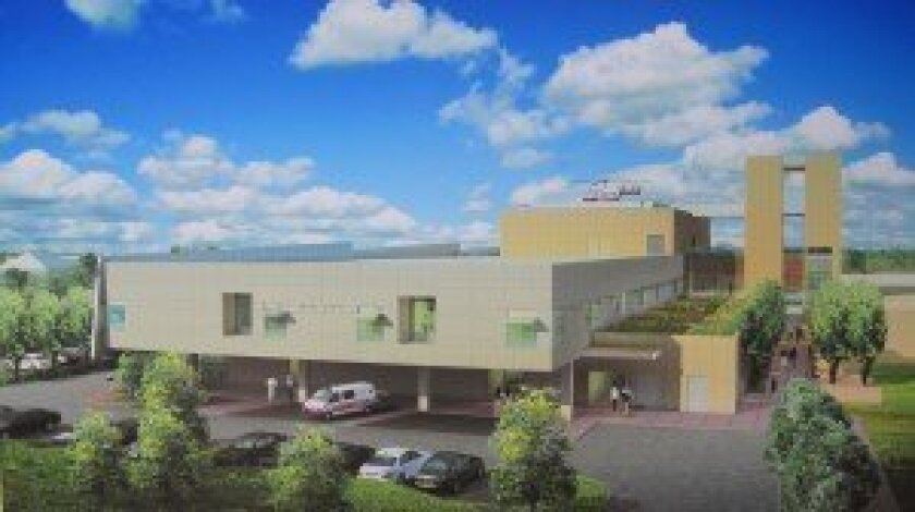 An artist rendering of the expanded critical care building at Scripps Memorial Hospital Encinitas