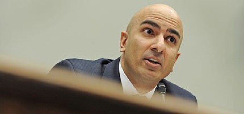 Neel T. Kashkari, the Treasury Department's interim assistant secretary for financial stability, testified yesterday before members of the House Financial Services Committee. The hearing focused on how well the financial rescue plan is being managed and monitored. SUSAN WALSH / Associated Press