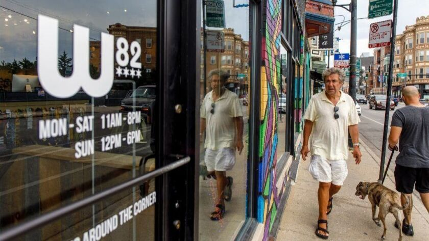 Windward Boardshop (W82) on Clark Street plans to stay open while the protest passes through Wrigleyville.