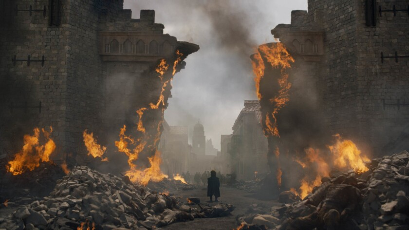 """This image released by HBO shows Peter Dinklage in a scene from """"Game of Thrones,"""" that aired Sunday"""
