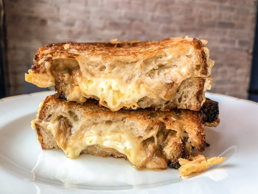 Pasjoli grilled cheese sandwich
