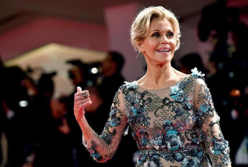 La actriz Jane Fonda desveló hoy que recientemente le extirparon un tumor canceroso del labio inferior. EFE/EPA/Archivo