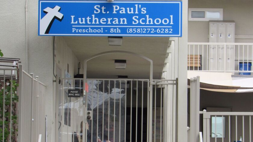 The school entrance is at 1376 Felspar Street in Pacific Beach