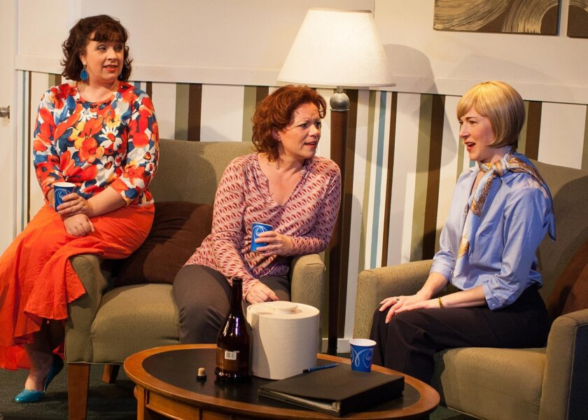 "Melissa Fernandes, DeAnna Driscoll and Jo Anne Glover star in Moxie Theatre's ""Mud Blue Sky."""