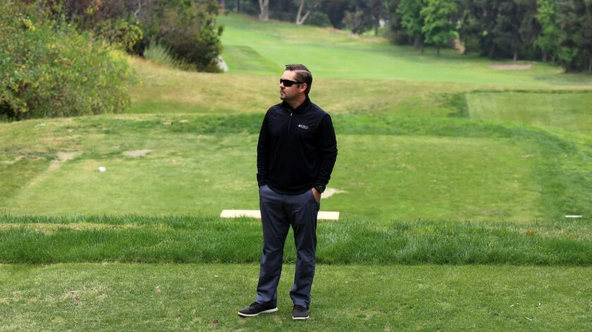 Jeff Hastings DeBell Golf Club's General manager at the 13th hole fairway at the DeBell Golf Course