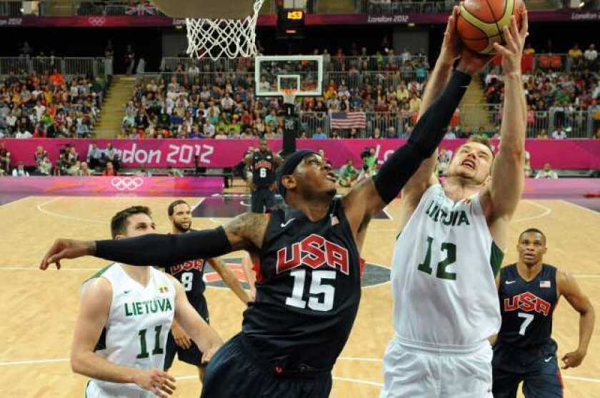 U.S. barely beats Lithuania, 99-94, in men's basketball