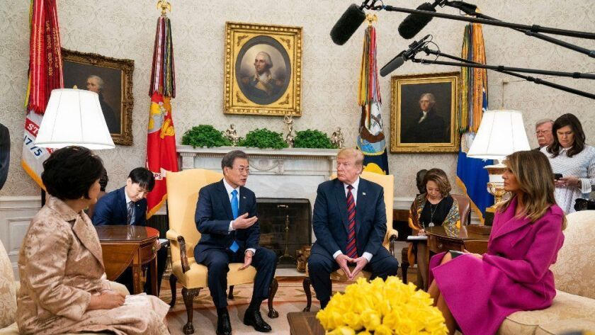 President Trump meets South Korean President Moon Jae-in at White House, Washington, USA - 11 Apr 2019