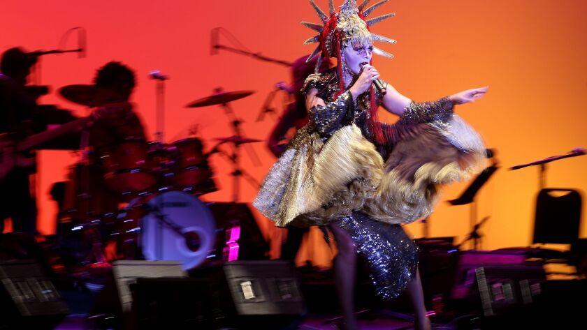 LOS ANGELES, CALIF. - MAR. 12, 2016. New York City-based performance artist Taylor Mac performs Satu