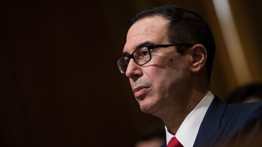 Secretary of Treasury Steven T. Mnuchin's use of military planes violated rules but was not illegal, his department's inspector general concluded.