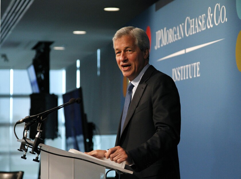 Jamie Dimon, Chairman and CEO of JPMorgan Chase & Co.: If you vote against him, you must be bad at your job.