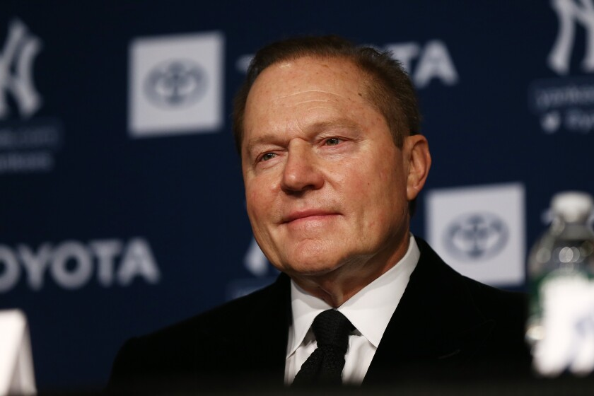 Sport Agent Scott Boras looks on during a press conference on Dec. 18, 2019 in New York City.