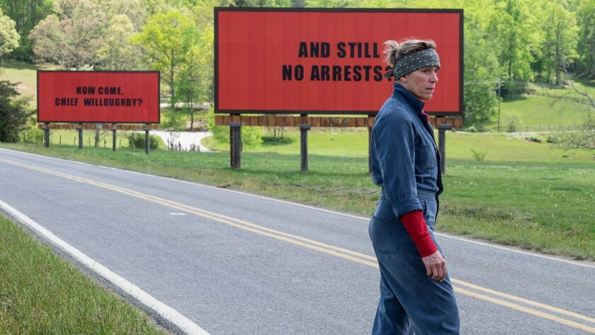 "Frances McDormand stars as a mother seeking justice in ""Three Billboards Outside Ebbing, Missouri,"" the latest film from playwright Martin McDonagh."