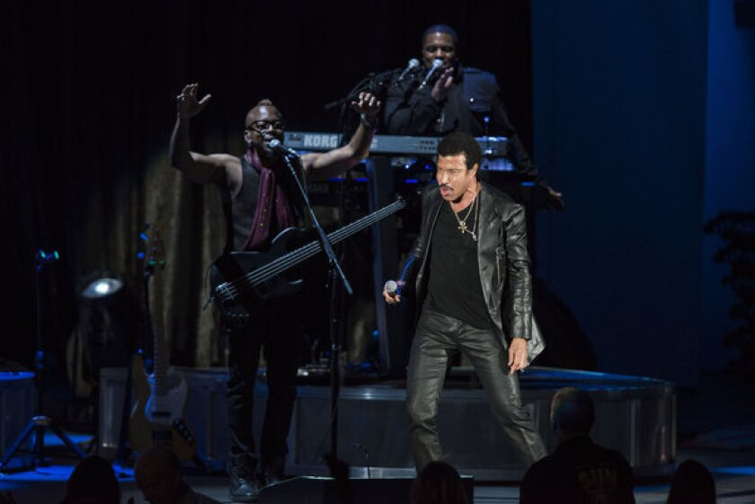 Lionel Richie performs Friday night at the Hollywood Bowl.
