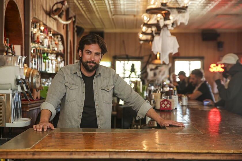 Jean Michel Alperin helped to revitalize the historic Red Dog Saloon in Pioneertown, which reopened in August 2020.