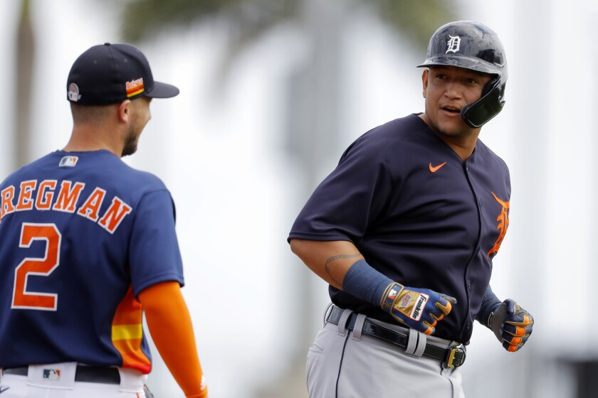 Tigers Astros Spring Baseball