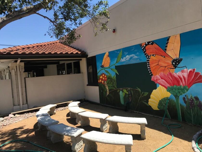 St. James' outdoor classroom.