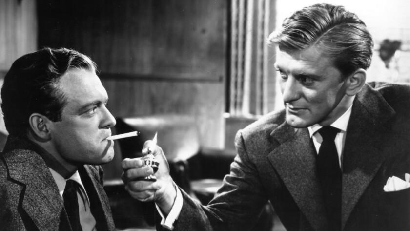 """Van Heflin and Kirk Douglas in """"The Strange Love of Martha Ivers."""""""