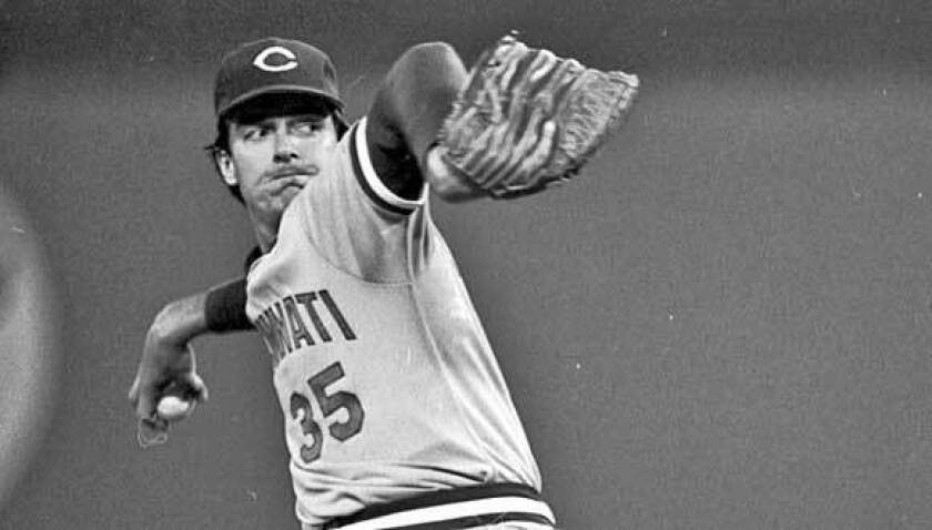 Cincinnati Reds pitcher Frank Pastore throws during a baseball game against the Pittsburgh Pirates in Pittsburgh in 1981.