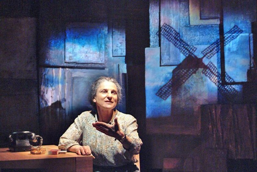 "Tovah Feldshuh as Golda Meir in ""Golda's Balcony"" by William Gibson, playing at The Old Globe."