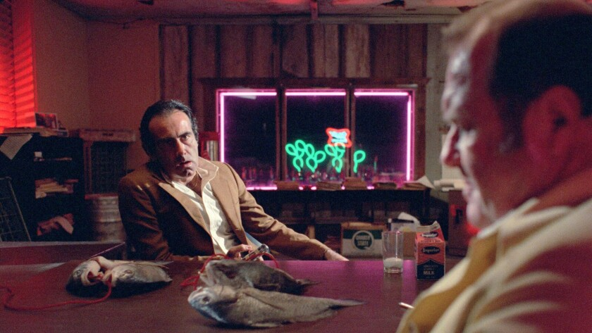 "Dan Hedaya, left, and M. Emmet Walsh in the movie ""Blood Simple."""
