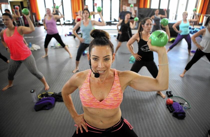 Dana Perri teaches Shift exercise class