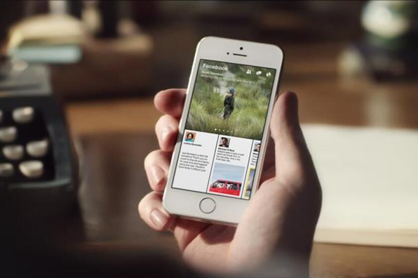 Facebook rolled out its new mobile app Paper on Monday.