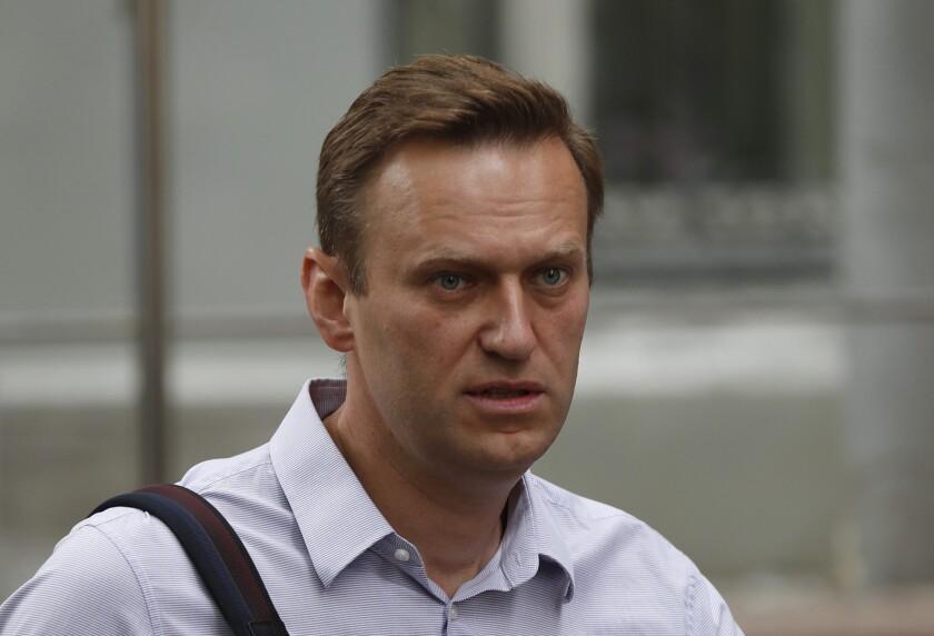 Russian opposition leader Alexei Navalny