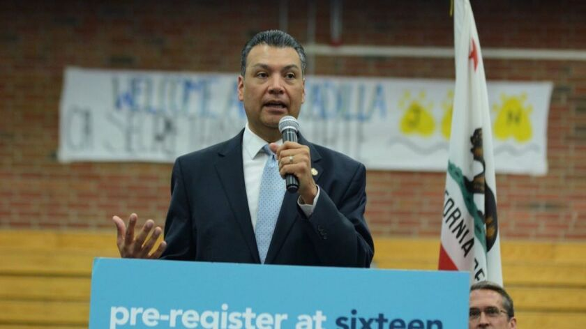 California Secretary of State Alex Padilla (Dylan Stewart / HS Insider)