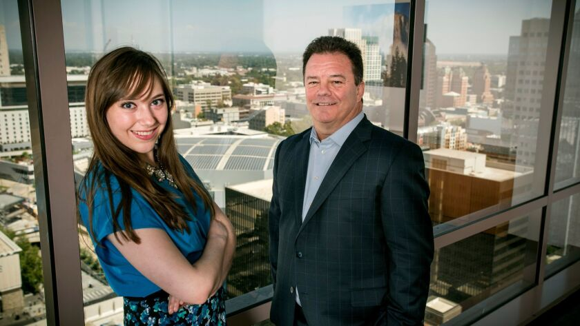 Cynthia Carrillo and Barry Broome of the Greater Sacramento Economic Council attempt to recruit Bay Area technology companies to Sacramento.