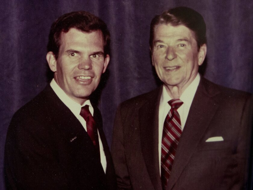 Dronenburg is an admirer of the late President Ronald Reagan. / courtesy photo